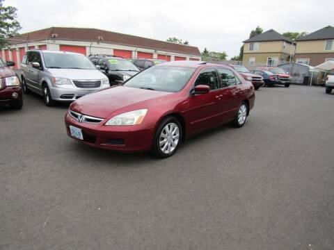 2006 Honda Accord for sale at ARISTA CAR COMPANY LLC in Portland OR