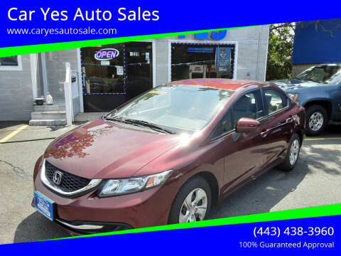 2015 Honda Civic for sale at Car Yes Auto Sales in Baltimore MD