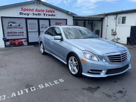 2013 Mercedes-Benz E-Class for sale at Speed Auto Sales in El Cajon CA