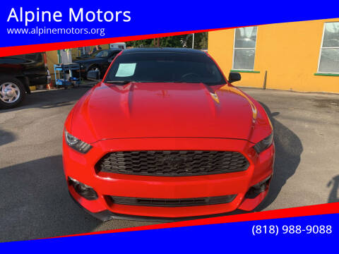 2016 Ford Mustang for sale at Alpine Motors in Van Nuys CA