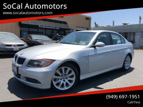 2006 BMW 3 Series for sale at SoCal Automotors in Costa Mesa CA