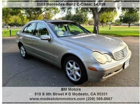 2003 Mercedes-Benz C-Class for sale at BM Motors in Modesto CA