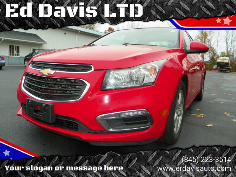 2015 Chevrolet Cruze for sale at Ed Davis LTD in Poughquag NY