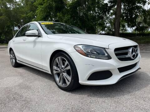 2018 Mercedes-Benz C-Class for sale at DELRAY AUTO MALL in Delray Beach FL
