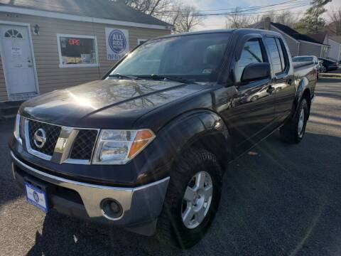 2005 Nissan Frontier for sale at All Ride Motors in Chesapeake VA