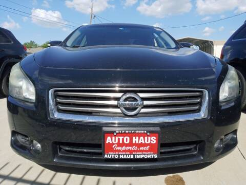 2012 Nissan Maxima for sale at Auto Haus Imports in Grand Prairie TX