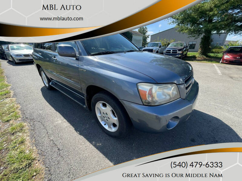 2006 Toyota Highlander for sale at MBL Auto Woodford in Woodford VA