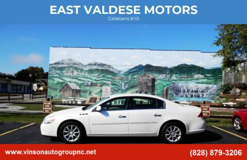 2008 Buick Lucerne for sale at EAST VALDESE MOTORS in Valdese NC
