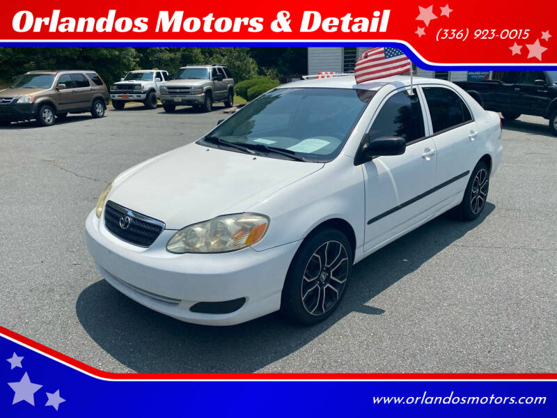 2006 Toyota Corolla for sale at Orlandos Motors & Detail in Winston Salem NC