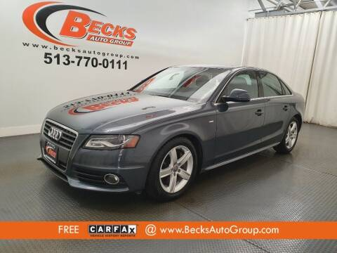 2009 Audi A4 for sale at Becks Auto Group in Mason OH