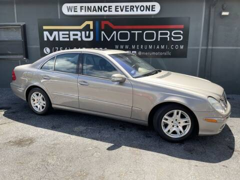 2004 Mercedes-Benz E-Class for sale at Meru Motors in Hollywood FL