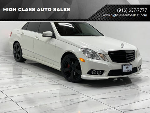2010 Mercedes-Benz E-Class for sale at HIGH CLASS AUTO SALES in Rancho Cordova CA