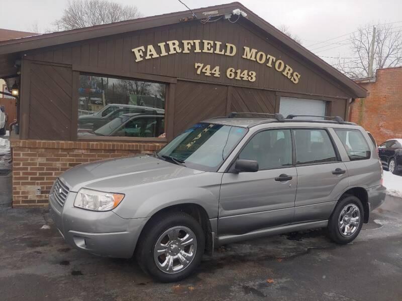 2007 Subaru Forester for sale at Fairfield Motors in Fort Wayne IN