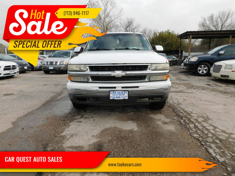 2003 Chevrolet Tahoe for sale at CAR QUEST AUTO SALES in Houston TX