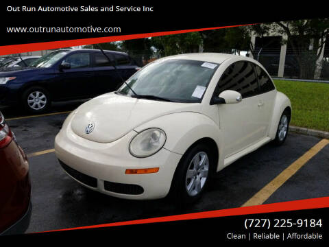 2007 Volkswagen New Beetle for sale at Out Run Automotive Sales and Service Inc in Tampa FL