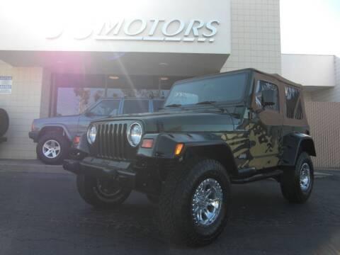 1998 Jeep Wrangler for sale at J'S MOTORS in San Diego CA