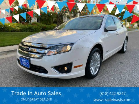 2012 Ford Fusion Hybrid for sale at Trade In Auto Sales in Van Nuys CA