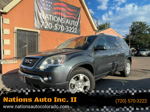 2011 GMC Acadia for sale at Nations Auto Inc. II in Denver CO