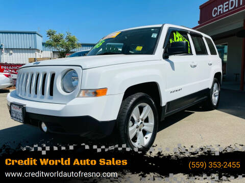 2016 Jeep Patriot for sale at Credit World Auto Sales in Fresno CA