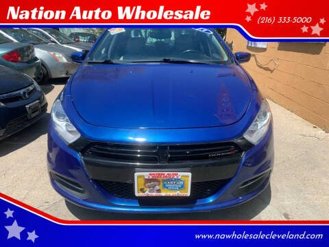 2013 Dodge Dart for sale at Nation Auto Wholesale in Cleveland OH