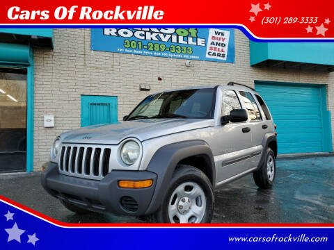 2002 Jeep Liberty for sale at Cars Of Rockville in Rockville MD