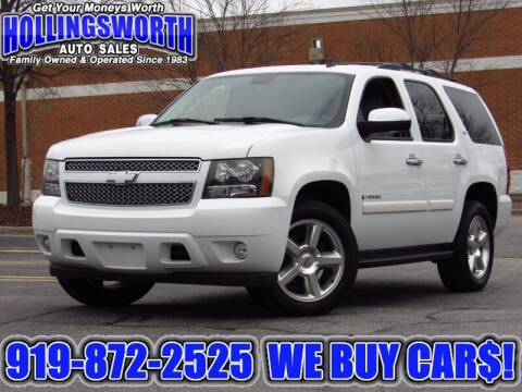 2008 Chevrolet Tahoe for sale at Hollingsworth Auto Sales in Raleigh NC