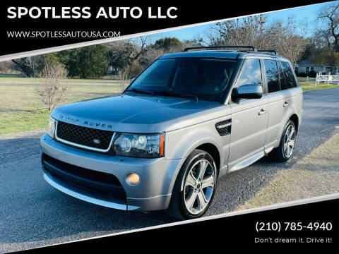 2012 Land Rover Range Rover Sport for sale at SPOTLESS AUTO LLC in San Antonio TX