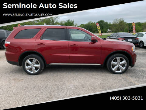 2013 Dodge Durango for sale at Seminole Auto Sales in Seminole OK