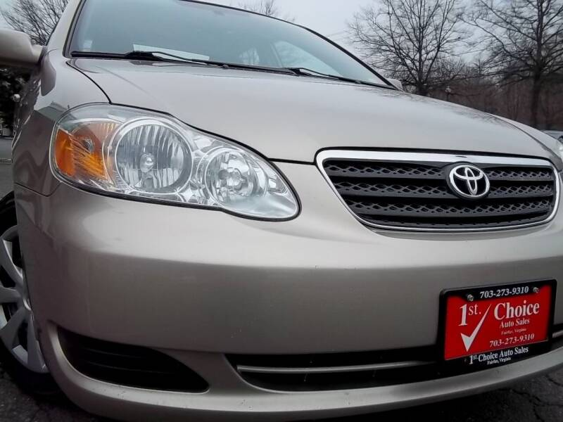 2007 Toyota Corolla for sale at 1st Choice Auto Sales in Fairfax VA