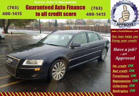 2007 Audi A8 L for sale at Capital Fleet  & Remarketing  Auto Finance in Columbia Heights MN