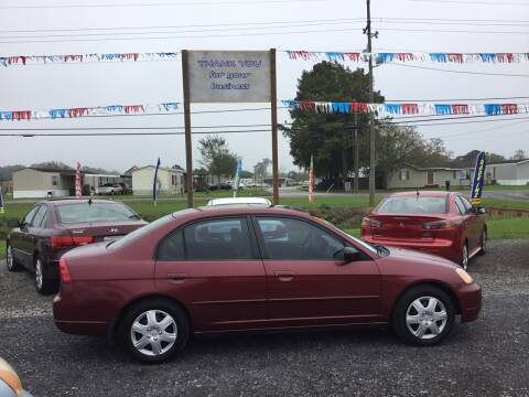 2002 Honda Civic for sale at Affordable Autos II in Houma LA