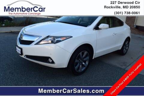 2013 Acura ZDX for sale at MemberCar in Rockville MD