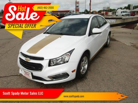 2015 Chevrolet Cruze for sale at Scott Spady Motor Sales LLC in Hastings NE