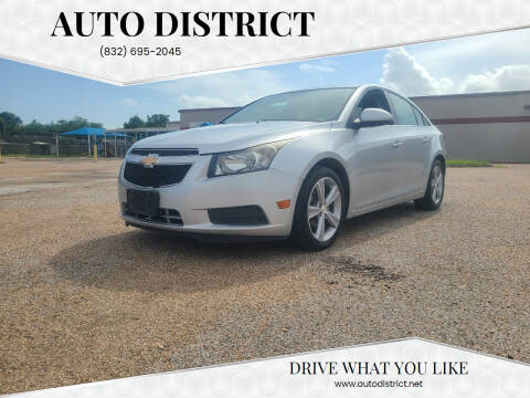 2013 Chevrolet Cruze for sale at Auto District in Baytown TX