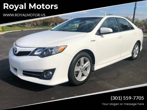 2014 Toyota Camry Hybrid for sale at Royal Motors in Hyattsville MD