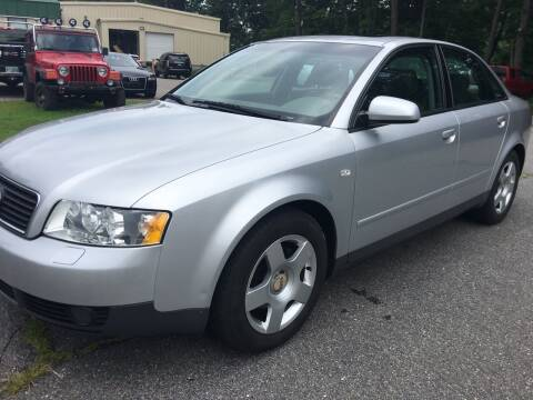 2002 Audi A4 for sale at BRATTLEBORO AUTO SALES in Brattleboro VT
