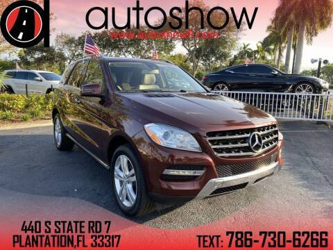 2013 Mercedes-Benz M-Class for sale at AUTOSHOW SALES & SERVICE in Plantation FL