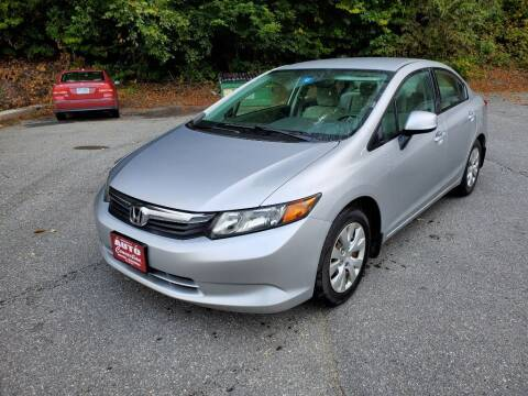 2012 Honda Civic for sale at AUTO CONNECTION LLC in Springfield VT