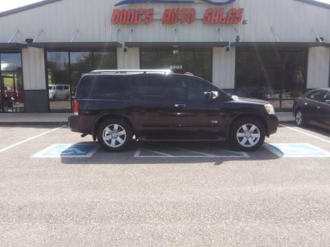 2008 Nissan Armada for sale at DOUG'S AUTO SALES INC in Pleasant View TN