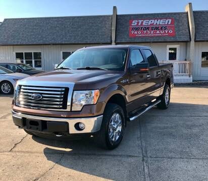 2012 Ford F-150 for sale at Stephen Motor Sales LLC in Caldwell OH