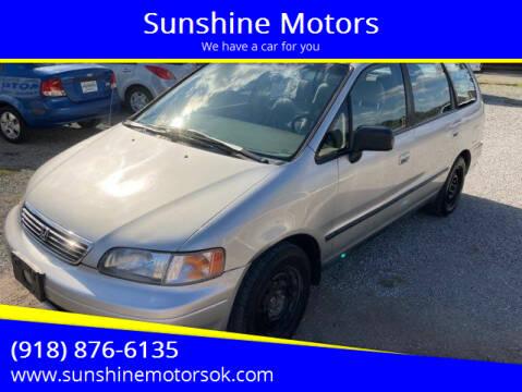1996 Honda Odyssey for sale at Sunshine Motors in Bartlesville OK