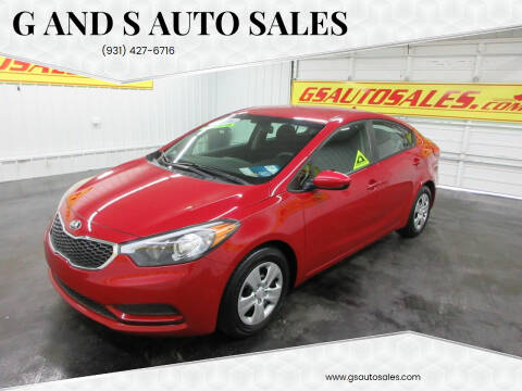 2016 Kia Forte for sale at G and S Auto Sales in Ardmore TN