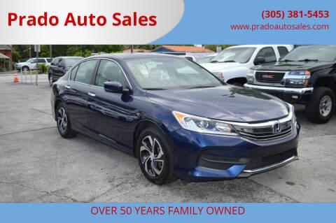 2017 Honda Accord for sale at Prado Auto Sales in Miami FL