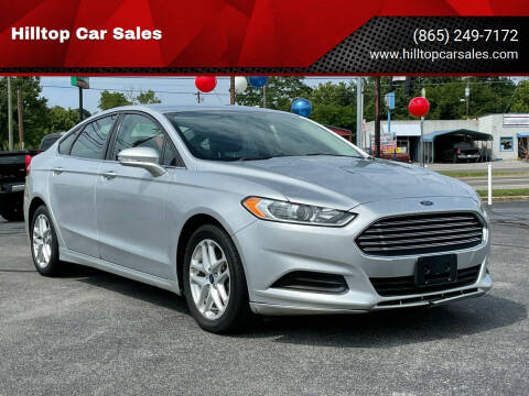2014 Ford Fusion for sale at Hilltop Car Sales in Knoxville TN