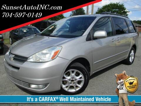 2005 Toyota Sienna for sale at Sunset Auto in Charlotte NC