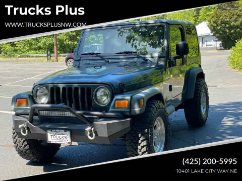 2004 Jeep Wrangler for sale at Trucks Plus in Seattle WA