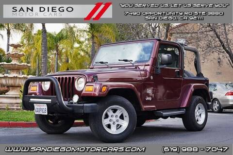 2004 Jeep Wrangler for sale at San Diego Motor Cars LLC in San Diego CA