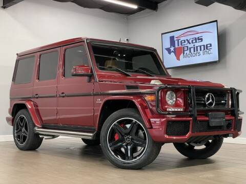 2015 Mercedes-Benz G-Class for sale at Texas Prime Motors in Houston TX