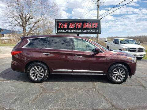 2013 Infiniti JX35 for sale at T & G Auto Sales in Florence AL