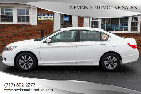 2013 Honda Accord for sale at Nevins Automotive Sales in Hanover PA